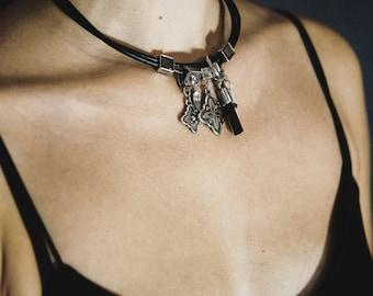 Charm choker Boho choker women Chokers for women Choker women necklace Delicate women necklace Choker necklace Choker pendant gift for her
