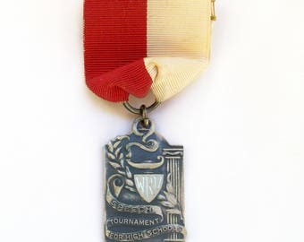 University Speech Tournament for High School Students Vintage Sterling Silver Extempore Speaking Award Medal - 1942 - Free Shipping USA