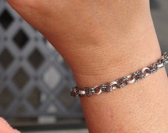 Instant Download | Twisted Gunmetal Bracelet | Chainmaille GutsyGuide for Mastering the Basics Course