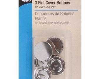 Dritz Buttons, Flat Cover Buttons, Brass Buttons, Dritz Flat Cover Buttons, Flat Buttons, Flat Cover Brass Buttons, Dritz Flat Buttons