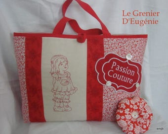 Embroidered Red Tote * sewing Passion *.