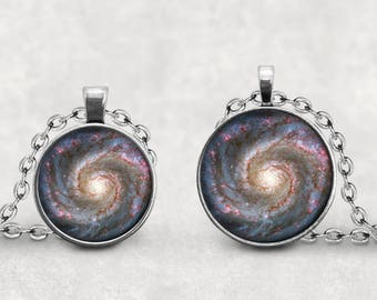 Milky Way Pendant, Outer Space Jewelry, Galaxy Necklace, Photo Jewelry,  Pendeloque Pendants