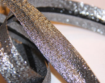 FABRIC POLYESTER / METALIC 18MM SHINY METAL