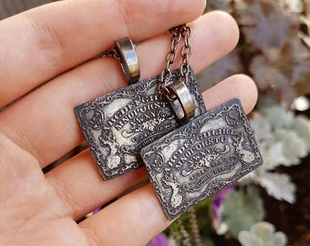 DISCOUNT Ouija Board Necklace in Silver - gothic occult witch jewelry - slight seconds