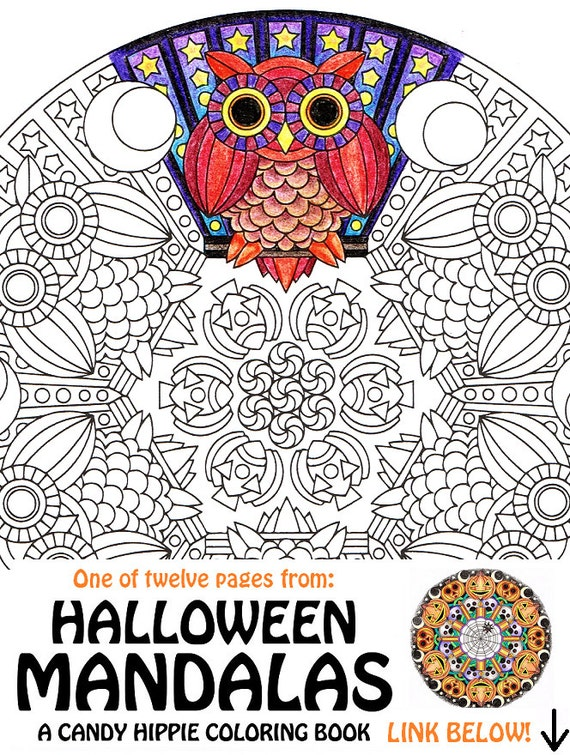 Halloween Mandala Coloring Page Mr Mooneye printable