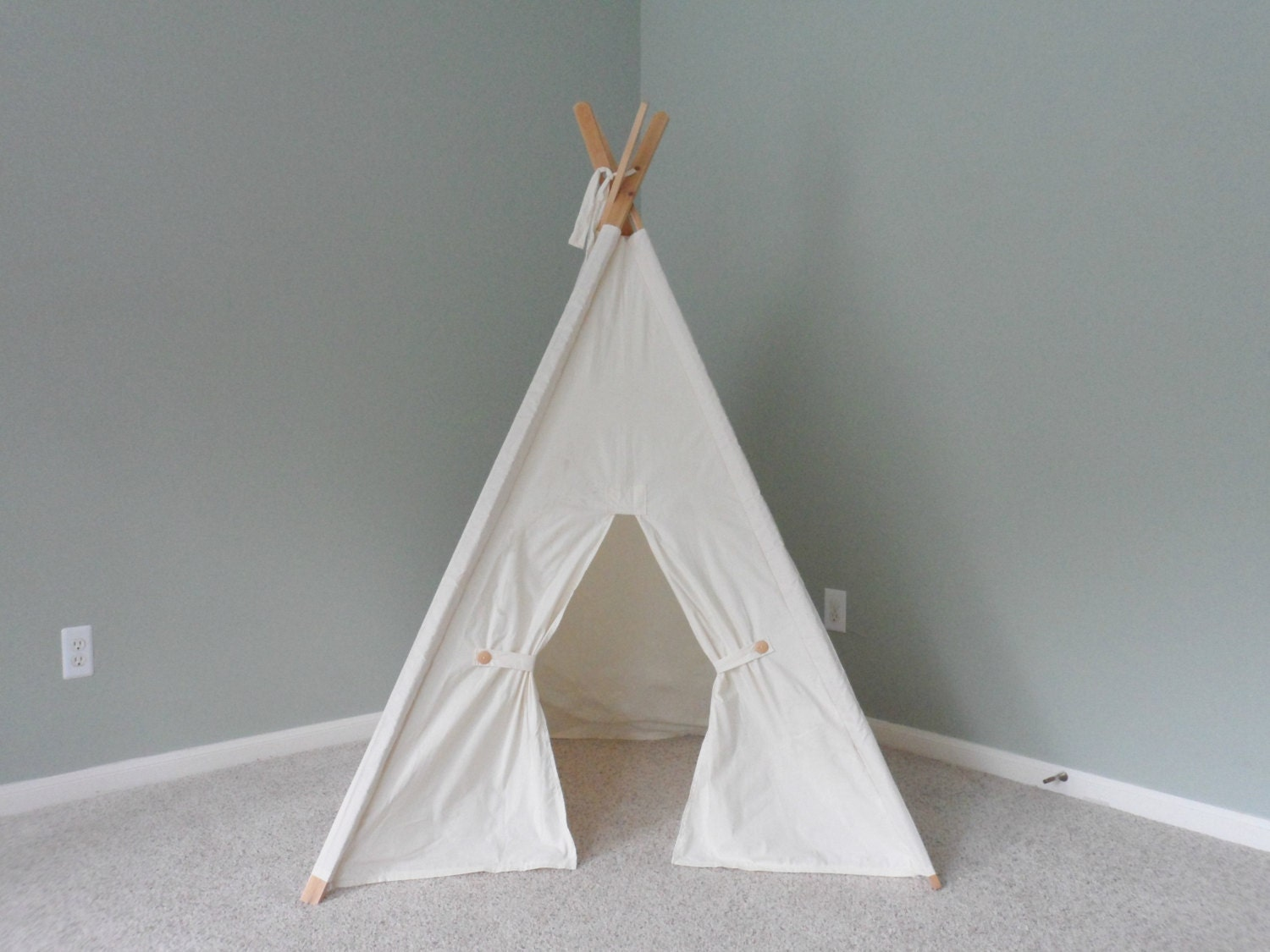 ?zoom & Kids play tent kids fort playhouse teepee with poles kids