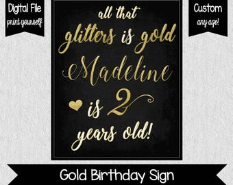 Two Fancy Sign - All That Glitters is Gold - Girl 2nd Birthday Decor - Glittery Gold Birthday Decor - I'm Two Much - Two Sassy - Two Fancy