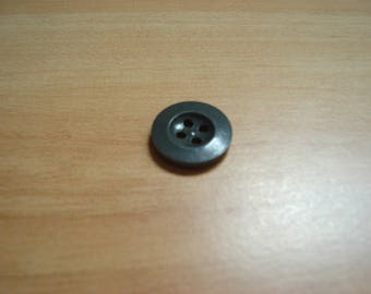 set of five buttons round gray anthracique