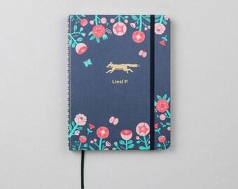 Flower Fox Emblem Academic Planner (Aug 2018–Jul 2019)