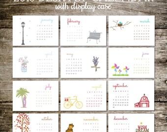 Desk Calendar, 2018 Calendar, Calendar 2018, Office Calendar, Desktop Calendar, Mason Jars, Office Gift, Christmas Gift, Stocking Stuffer