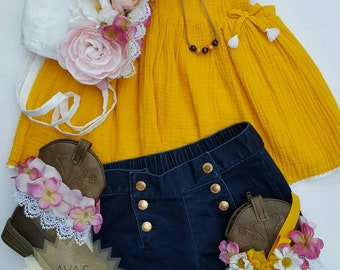 Floral Bonnet ~ Boot Cuffs ~ Cord Necklace ~ Baby Girl ~ Newborn ~ Toddler ~ Anklet ~ Accessories ~ Tassel Necklace ~ Photo Props ~