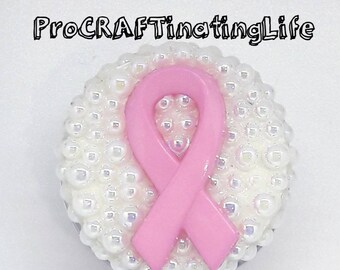 Breast Cancer Awareness  ID Badge Reel / Retractable ID Badge Holder ProCRAFTinatingLife