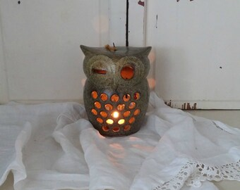 Vintage Owl Candle Lantern   Candle Holder