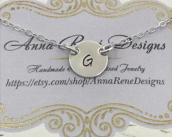 Tiny Initial Charm, Initial Necklace, Bridesmaid Gift, Graduation Gift