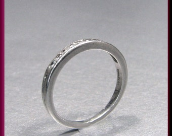 Vintage Platinum Tiffany and Company Diamond Wedding Band - R 319S