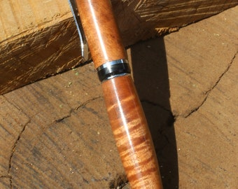 Curly Tasmanian Blackwood ballpoint pen