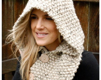 Knitting PATTERN-The Lakota Hood (Child, Adult sizes)