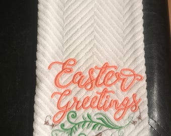 Easter Greetings Kitchen Towel