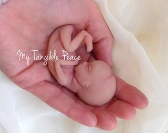 Ooak, 12 week, gestation, baby Memorial/Honor Sculpture - MADE TO ORDER