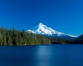 Mt Hood, Mountain Photograph, Oregon Landscape, Lost Lake, Cascades, Wall Decor, Fine Art, Forest, Trees, Calm, Canvas Print, Metal Print
