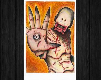 Pan's Labyrinth: The Pale Man Monster Portrait Art Print