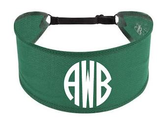 Custom Non Slip Adjustable Headband HUNTER Athletic Monogram Headband - Athletic Volleyball Gymnastics Soccer Basketball Adjustable Headband
