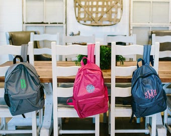 Personalized Kids Backpack| Monogrammed Book Bag | Kids Backpack |Personalized Backpack |Monogram Backpack |Back To School | Preppy Backpack
