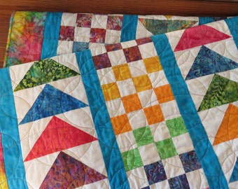Patchwork Quilt Extra Long Twin Size College Dorm Quilt