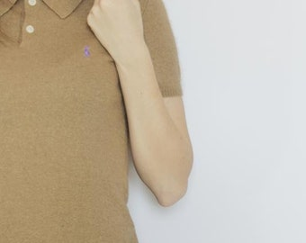 Natural Angora + silk + wool polo-t-shirt / sweater / cardigan / jacket polo ralph lauren s-m