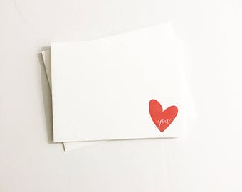 I heart you A2 Letterpress Card