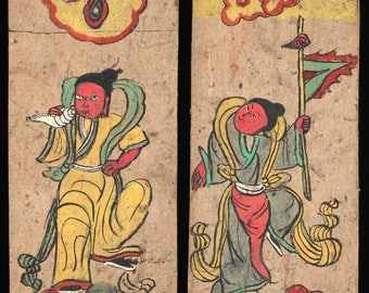 Ancient Dongba Characters and Drawing of Yunan Naxi, design inspiration, craft, card making, history character research, PDF Download
