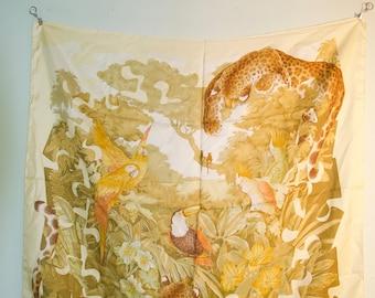 Vintage Salvatore Ferragamo Jungle Silk Scarf