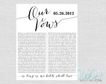 Our Vows Wall Art Digital Printable File