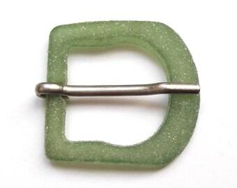 Vintage frosted green 3.8 cm belt buckle