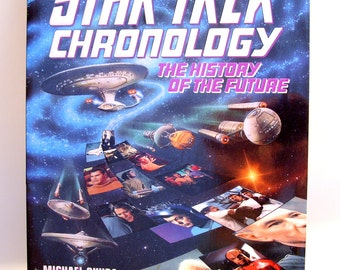 Star Trek Chronology The History of the Future, First Edition Book 1993, Vintage Star Trek Collectible Book, Great Gift