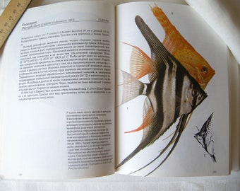 Soviet book of Fishes Tropical Fishes book 96 color drawings with tropical fishes Vintage book Aquarium tropic fish Illustrated book