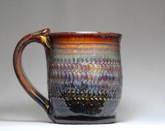 pottery mug, 12oz pottery mug, pottery coffee cup