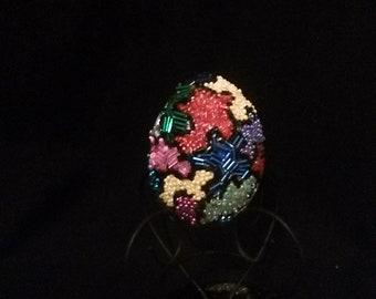 Beaded Egg with original puzzle design