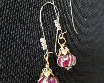 Swirls and sparkles drop earrings