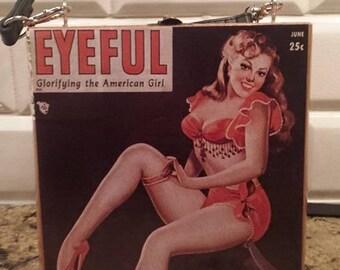 Vintage Pin up Girl Cigar box purse