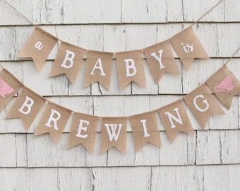 A Baby Is Brewing Baby Shower, A Baby Is Brewing Banner, Tea Party Baby Shower Decorations, Baby is Brewing Tea Party, Tea Party Shower