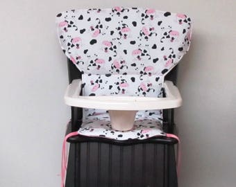 Eddie Bauer high chair cover NEWPORT STYLE baby accessory replacement feeding chair cushion, kids chair protector, childrens chair pad, cows
