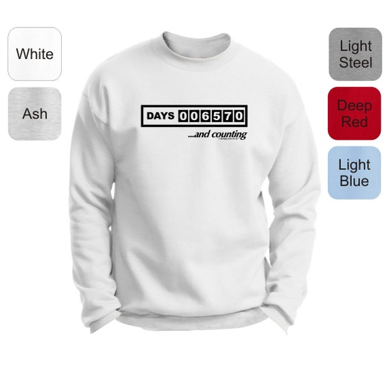 25550 Days - Speedometer 70th Birthday Novelty Crewneck Sweatshirt 18000 - BR-30 bCJ5WTvlN