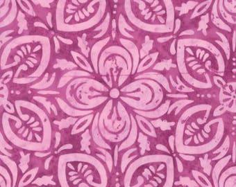 Moda Latitude Batik Navigate Sunset Pink