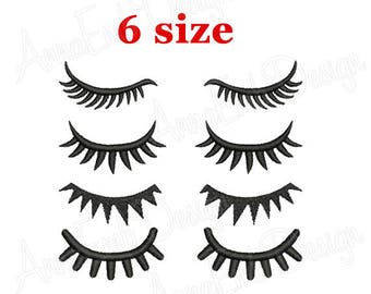 Eyes with lashes Embroidery Design. Eyes Embroidery Design. Face Embroidery Design. Machine Embroidery Design. Eyes Design. Eyes for dolls.