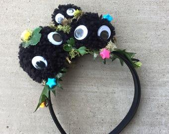 Studio Ghibli Soot Sprite Headband - Anime Cosplay Headwear Accessory - Inspired by Spirited Away & My Neighbor Totoro
