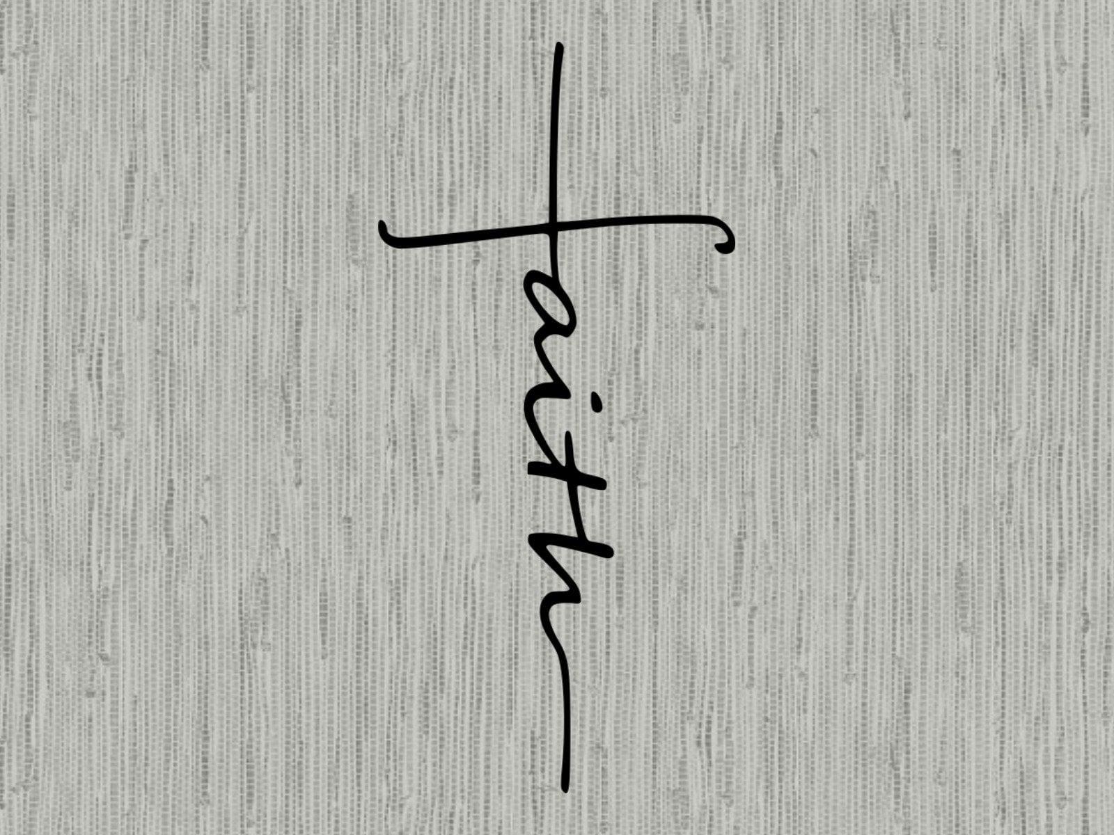 Faith Cross Svg Cut File Faith Cross Clipart Faith Svg Cut