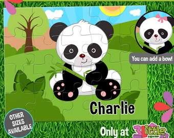 Baby Panda Puzzle - Personalized 8 x 10 Puzzle - Personalized Name Puzzle - Personalized Children Puzzle - Personalized Panda Puzzle