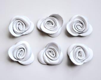 rose leather flower set