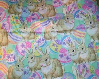 Easter Egg and Bunnies Fabric